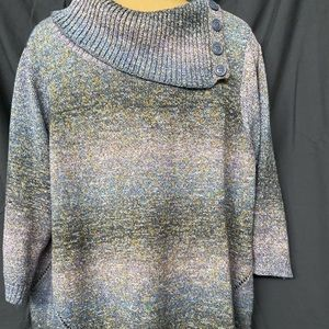 Multi Color Side Buttoned Sweater